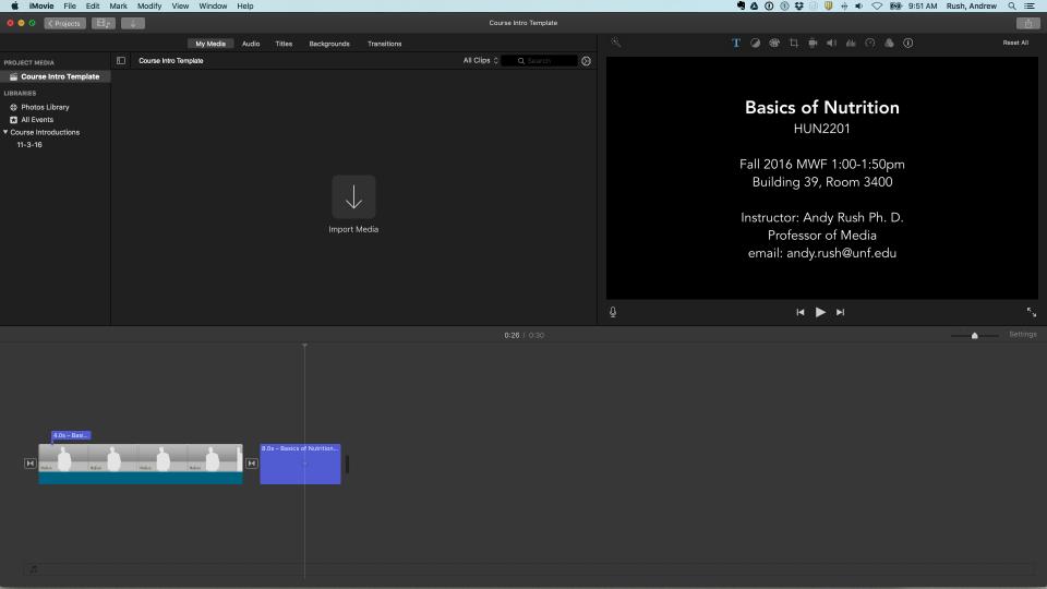 iMovie Template